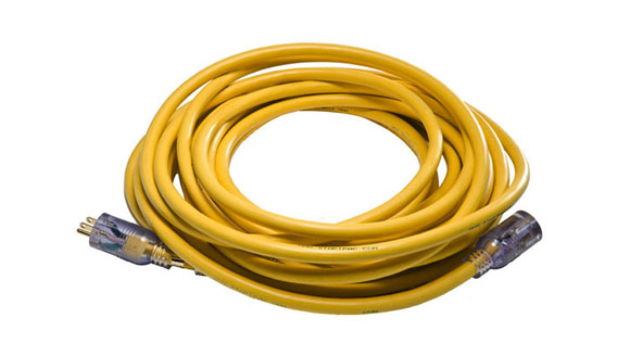 110 VAC Aircraft Grade Extension Cord 25v and 50v